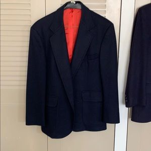 Navy Blue Pendleton Wool Sport Coat